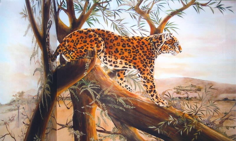 Ellen k gladis murals in homes for African mural painting
