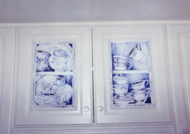 hand painted kitchen furniture on kitchen hand painted cabinets - Hand Painted Kitchen Cabinets