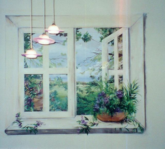 Ellen k gladis trompe l 39 oeil for Deco trompe l oeil mural