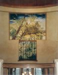 ENTRANCE  Leopard Mural on Canvas