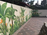 Outdoor Mural Tropical Themed with Animals Marina del Ray CA