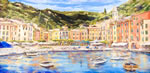 DINING ROOM  Portofino Mural on Canvas