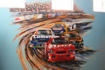 BOY'S BEDROOM  Nascar Mural
